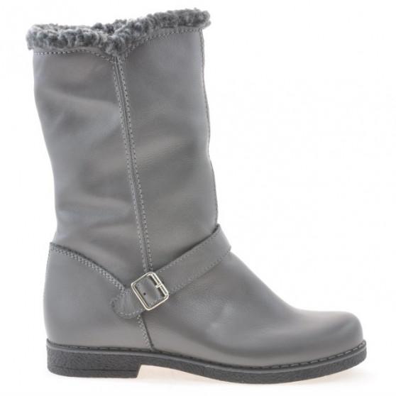 Women knee boots 3247 biz gray