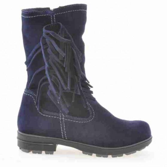 Children knee boots 3208 indigo velour