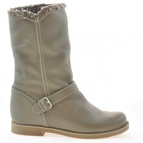 Women knee boots 3247 biz kaki