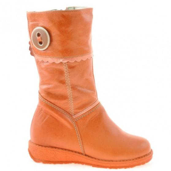 Small children knee boots 25c orange