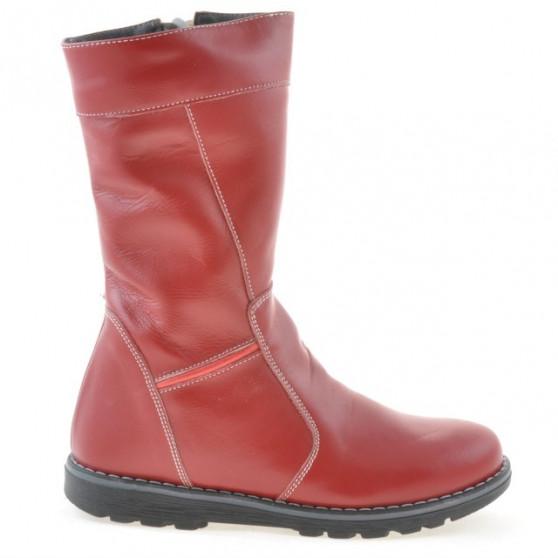 Children knee boots 3212 red