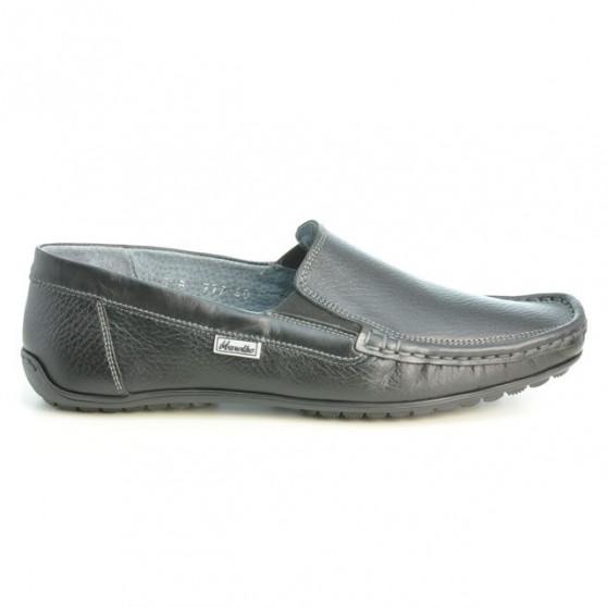 Men loafers, moccasins 777 biz black