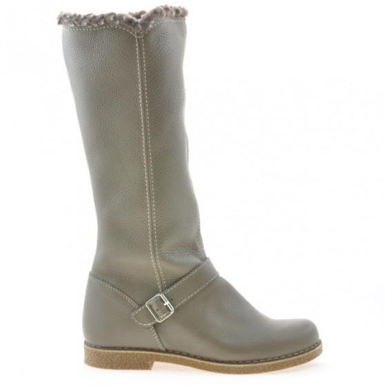 Women knee boots 3248 biz kaki