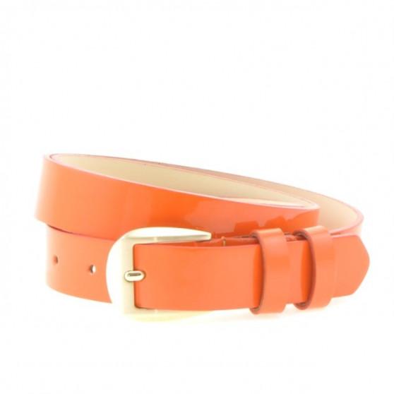 Women belt 01m patent orange