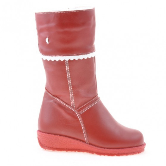 Small children knee boots 25c red+white