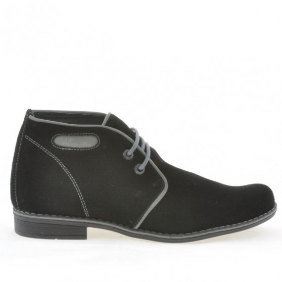 Teenagers boots 464 black velour+gray