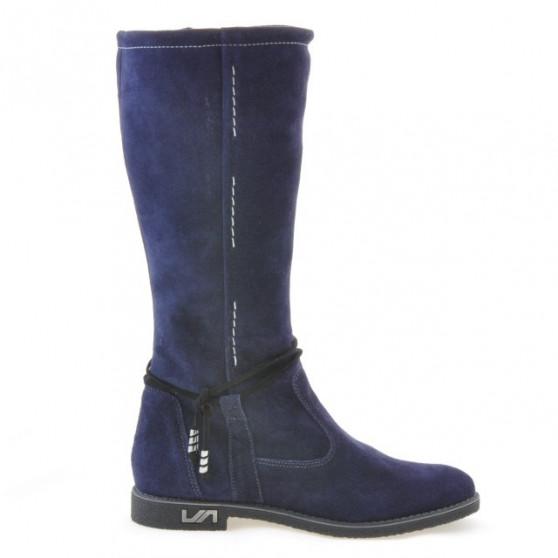 Women knee boots 3276 indigo velour