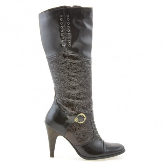 Women knee boots 1109 crep patent cafe