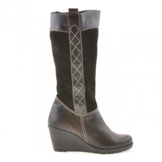 Women knee boots 3221 cafe combined