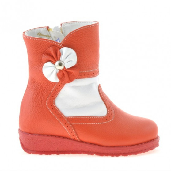 Small children boots 20c red+white