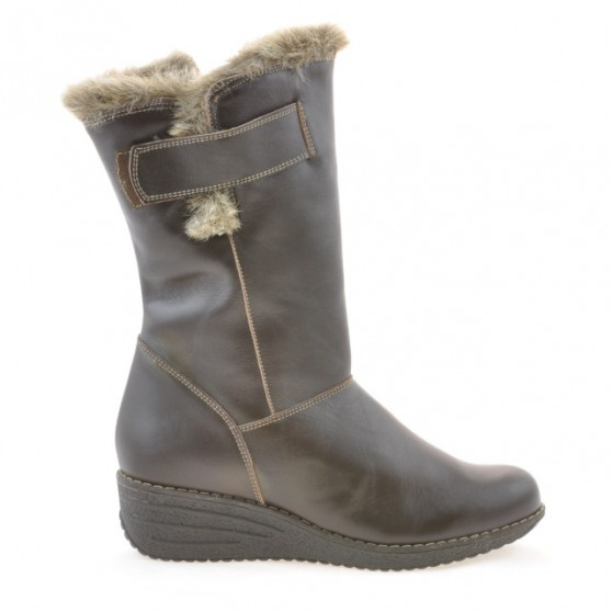 Women knee boots 3246 cafe