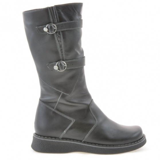 Children knee boots 214 black