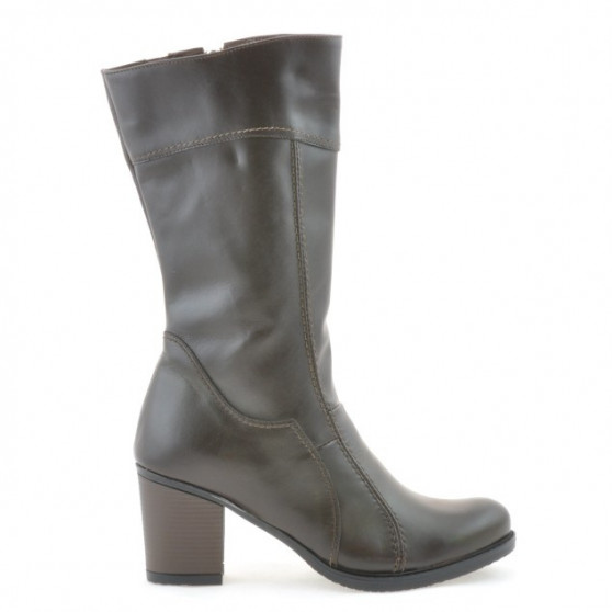 Women knee boots 3236 cafe