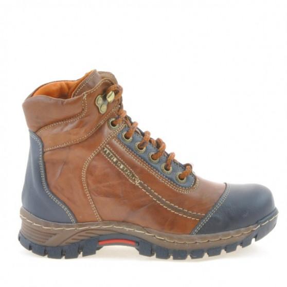Children boots 3219 brown+indigo