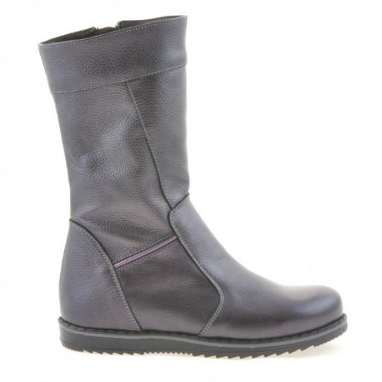Children knee boots 3212 purple pearl