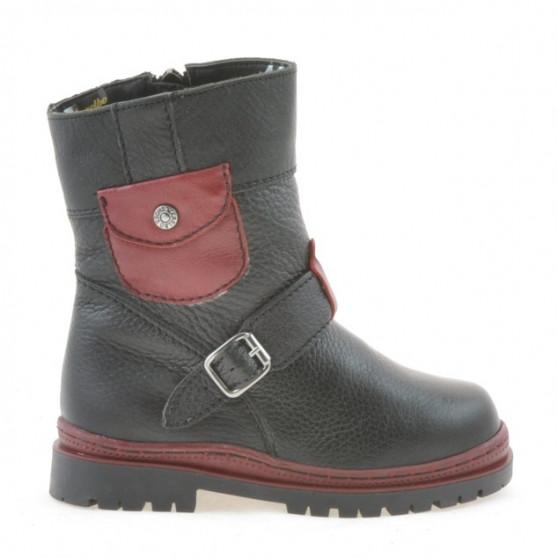 Small children boots 22c black+grena