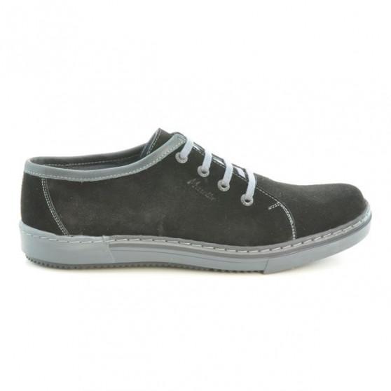 Men casual, sport shoes 722 black velour+gray