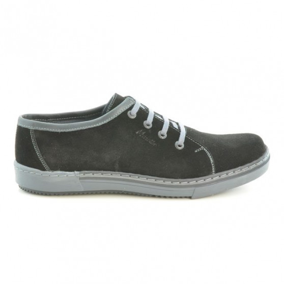 Pantofi casual / sport barbati 722 negru velur+gri