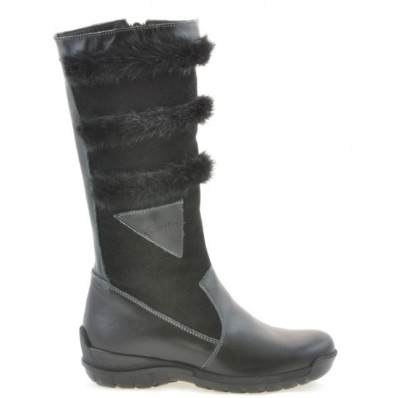 Children knee boots 3205 black combined