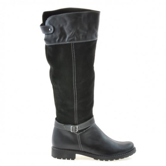 Women knee boots 3225 black combined