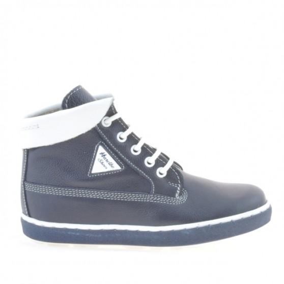 Children boots 3206 indigo+white