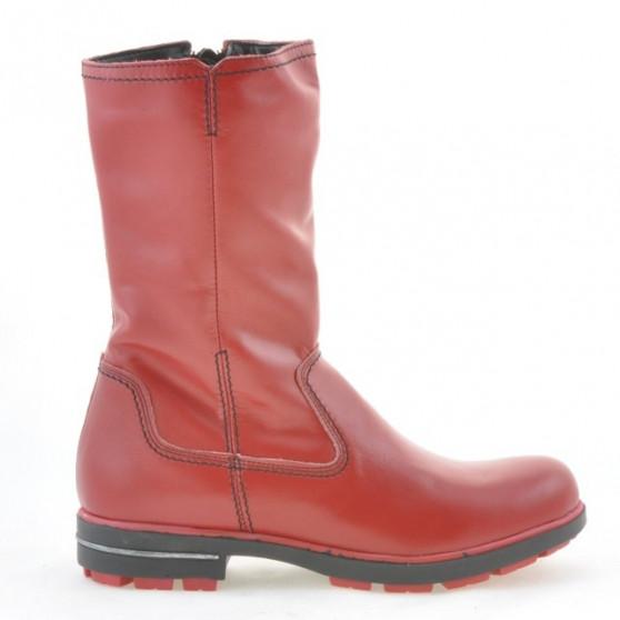 Children knee boots 3210 red