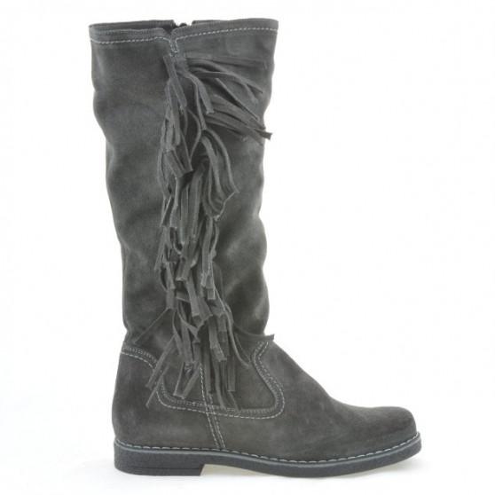 Women knee boots 3243 antracit velour