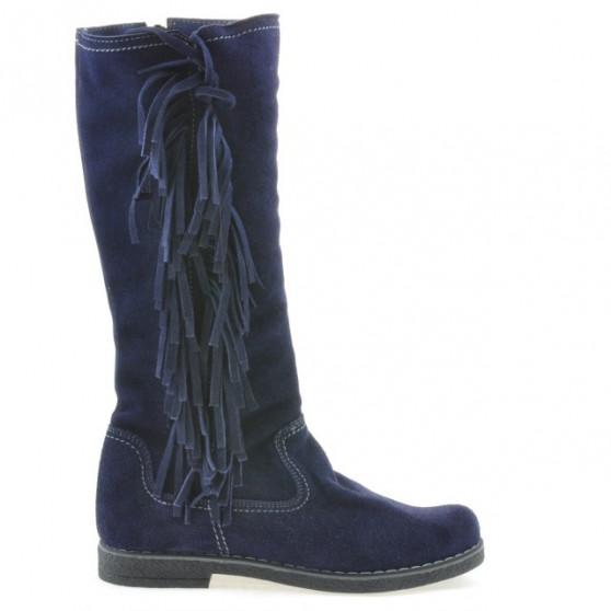 Women knee boots 3243 indigo velour