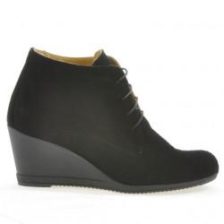 Women boots 3287 black velour