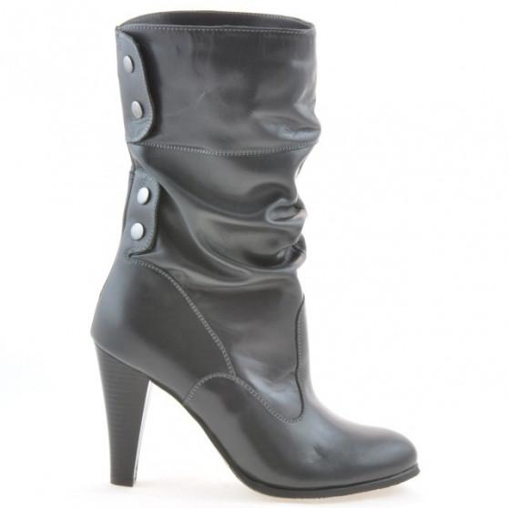 Women knee boots 1113 gray