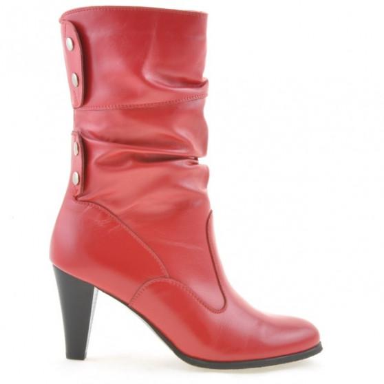 Women knee boots 1113-1 red