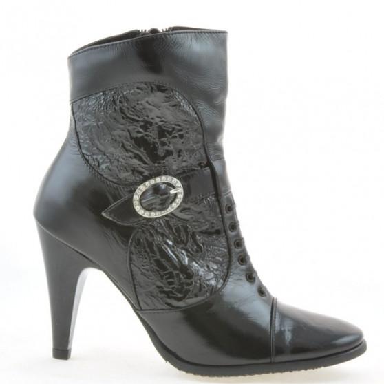 Women boots 1102 crep patent black