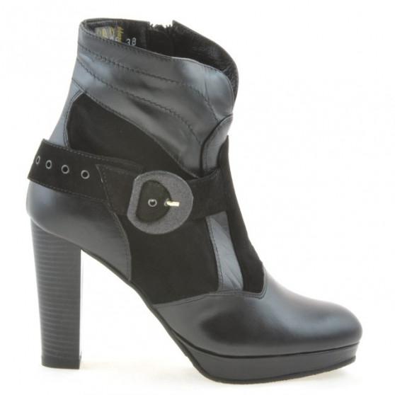 Women boots 1126 black+black antilopa