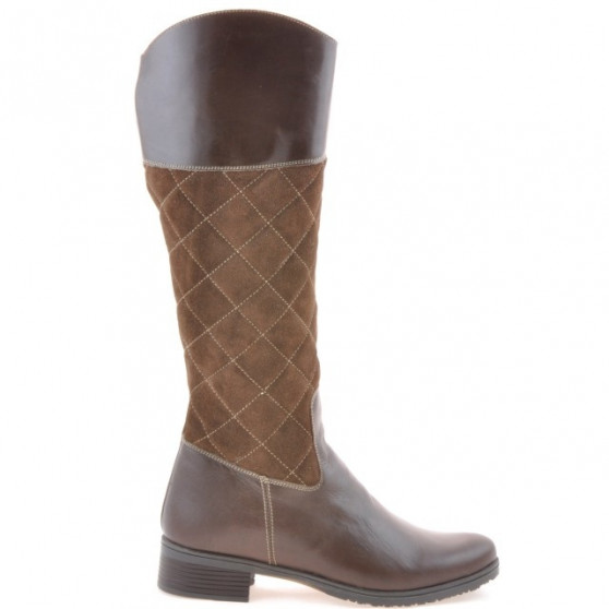 Women knee boots 3293 cafe combined