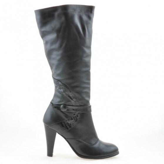 Women knee boots 1119 black combined