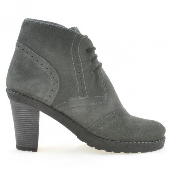 Women boots 3230 gray velour
