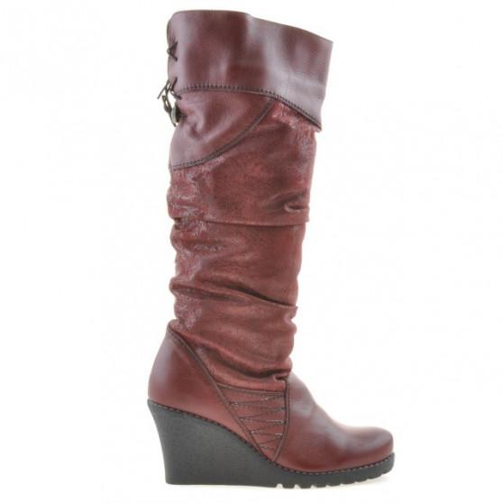 Women knee boots 226 bordo combined