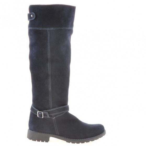 Women knee boots 3225 indigo velour
