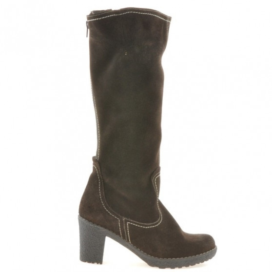 Women knee boots 3258 cafe velour