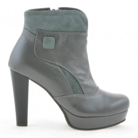 Women boots 1125 gray+gray antilopa