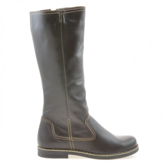 Women knee boots 3273 cafe