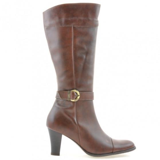 Women knee boots 017 cognac combined