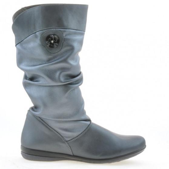 Women knee boots 257 gray pearl