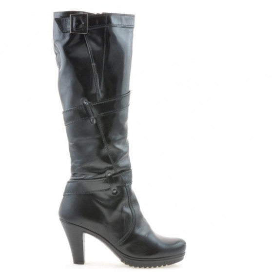 Women knee boots 229 patent black
