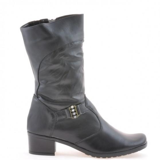 Women knee boots 261 black+crep black