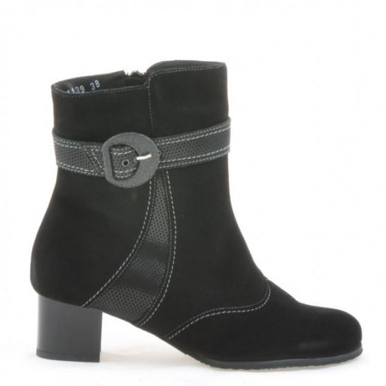 Women boots 1139 black antilopa combined