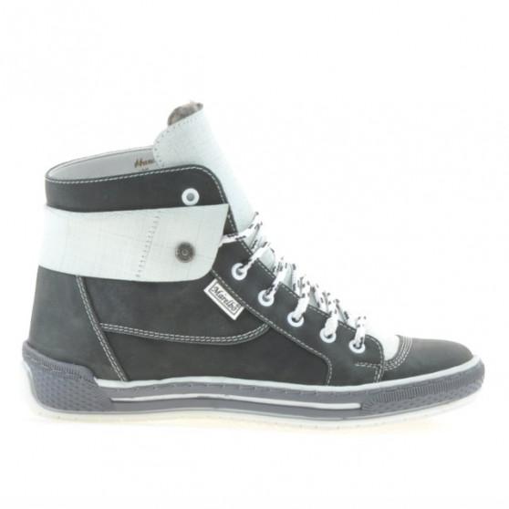 Women boots 258 tuxon gray+white