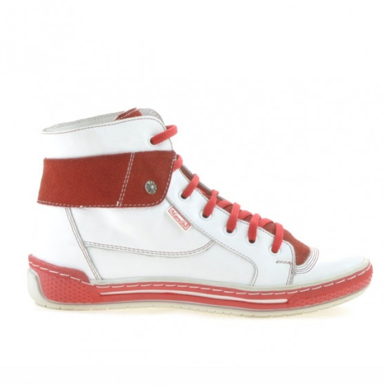 Women boots 258 white+red