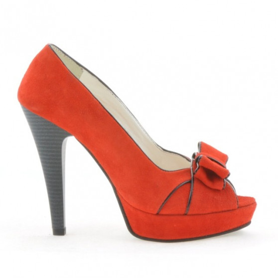 Women sandals 1099 antilopa red+black