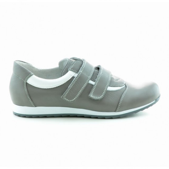 Women sport shoes 194 gray+white
